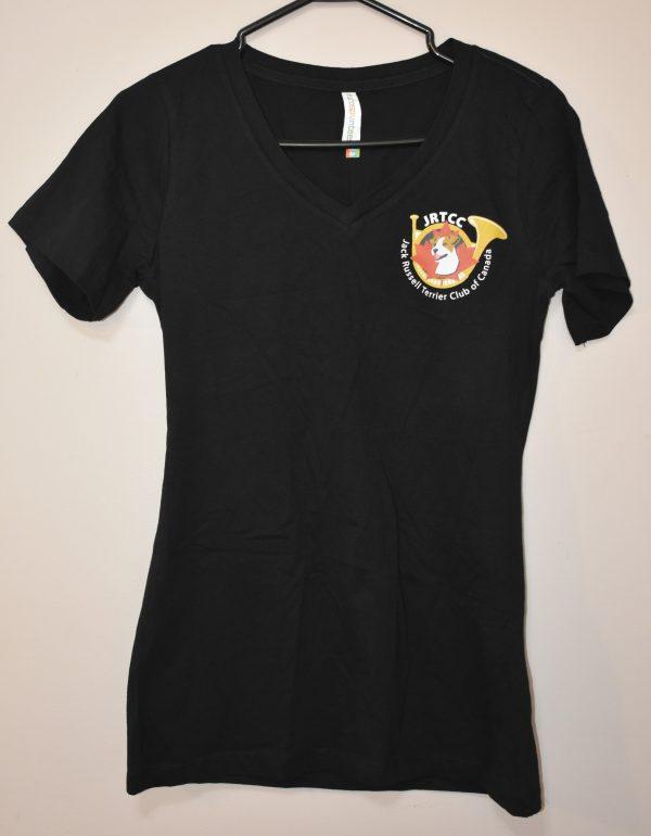 T-Shirt V Neck Black