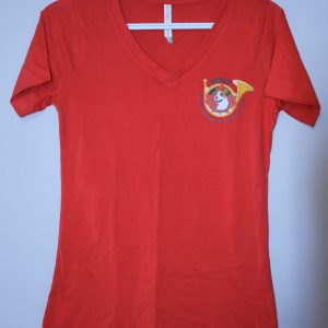 T-Shirt V Neck Red