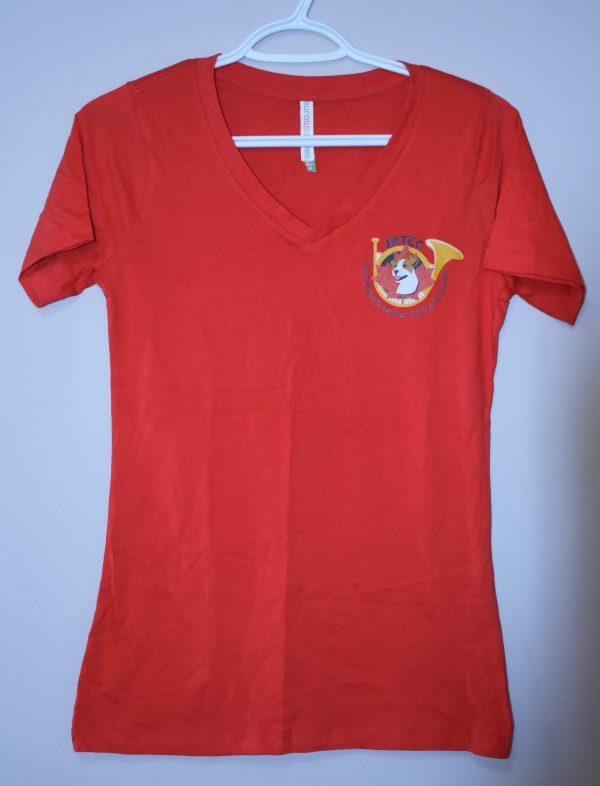 T-Shirt V Neck Red
